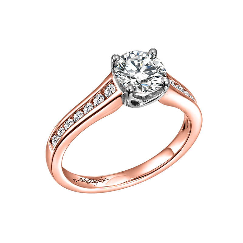 Rose/White Engagement Ring