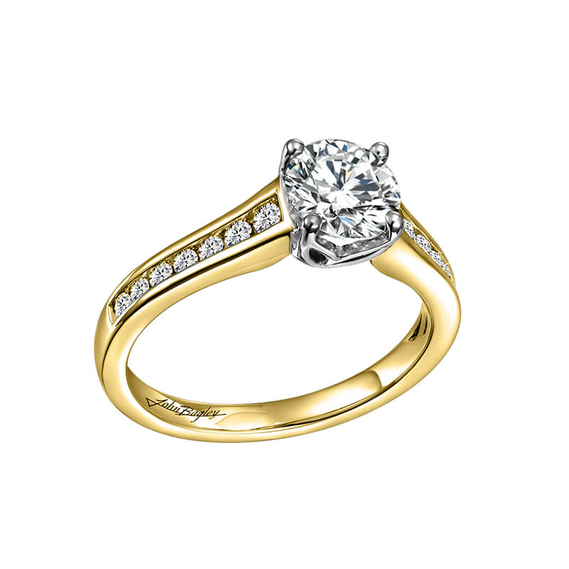 Yellow/White Engagement Ring
