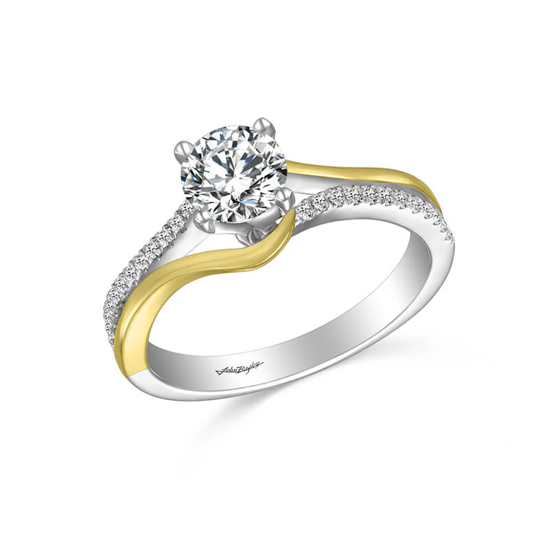White/Yellow Engagement Ring